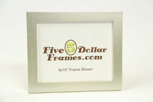 "41-33 1.25"" Small Flat Brushed Silver Picture Frame"