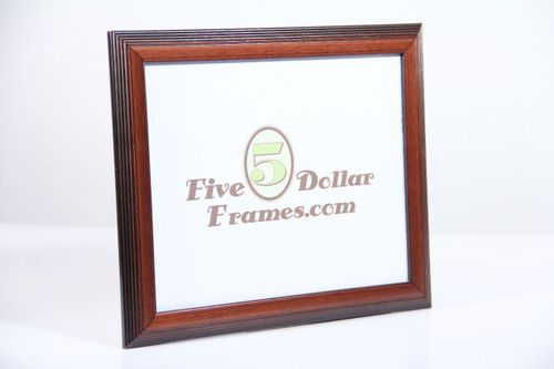 Modern Mahogany Step Picture Frame