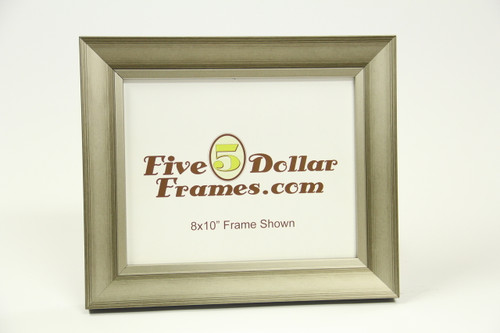 "10683 1.75"" Studio Brushed Silver Slope Picture Frame"