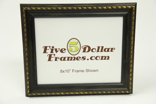 "80550 1.25"" Traditional Black w/Gold Detail Picture Frame"