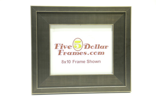"10226  3"" Wide Silver Step Metro Finish Picture Frame"