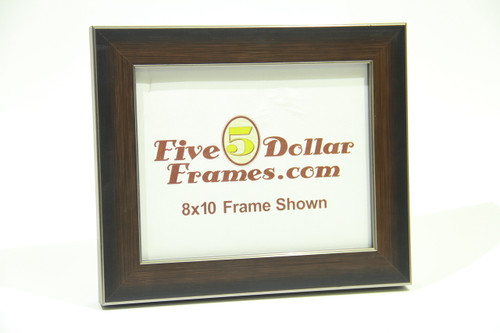 "83297 1.75"" Dark Walnut w/Silver Accent Picture Frame"