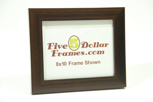 "141-21 1.5"" Dark Walnut Stained Flat Face Picture Frame"