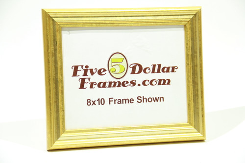 "1300-270 1.25"" Traditional Gold w/Waterstain Picture Frame"