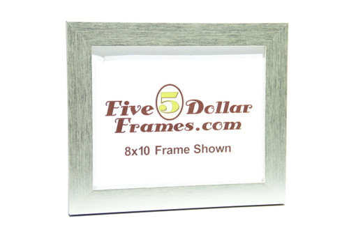 "145-33 1.25"" Flat Silver Modern Picture Frame"
