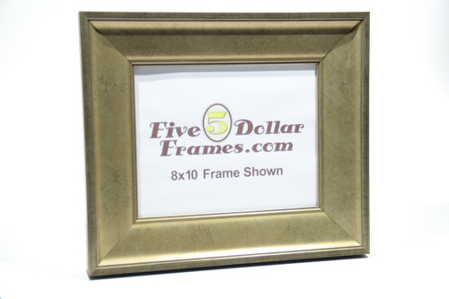 "480-40 2.625"" Classic Warm Silver Leaf Slope Picture Frame"
