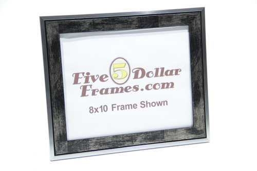 "310-265 1.25"" Studio Architectural Black Scratch Picture Frame"