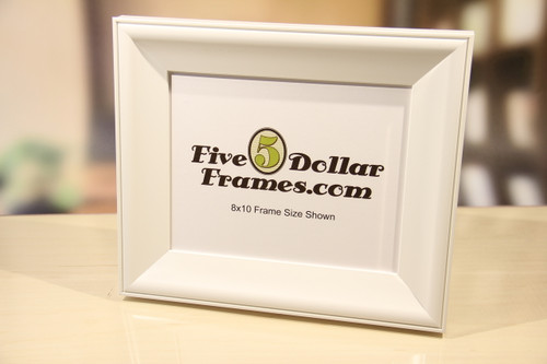 White Satin Slope Picture Frame