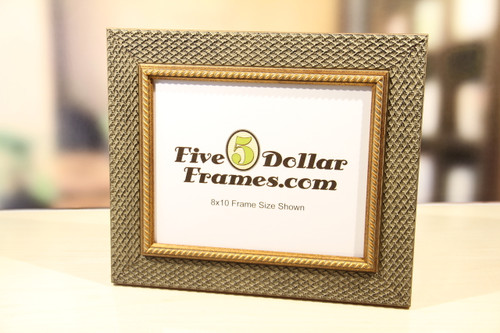 Woven Gold Picture Frame