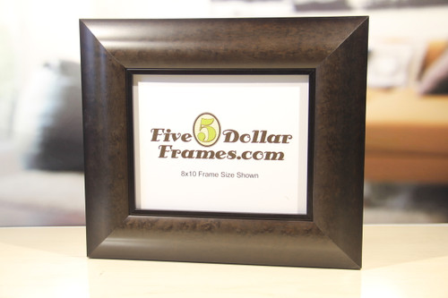 Contemporary Wide Mottled Brown Picture Frame