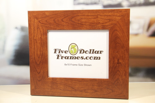 Flat Wide Cherry MDF Picture Frame