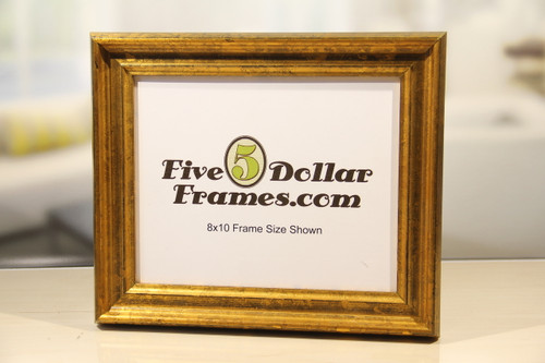 Antique Gold with Flat Panel Picture Frame