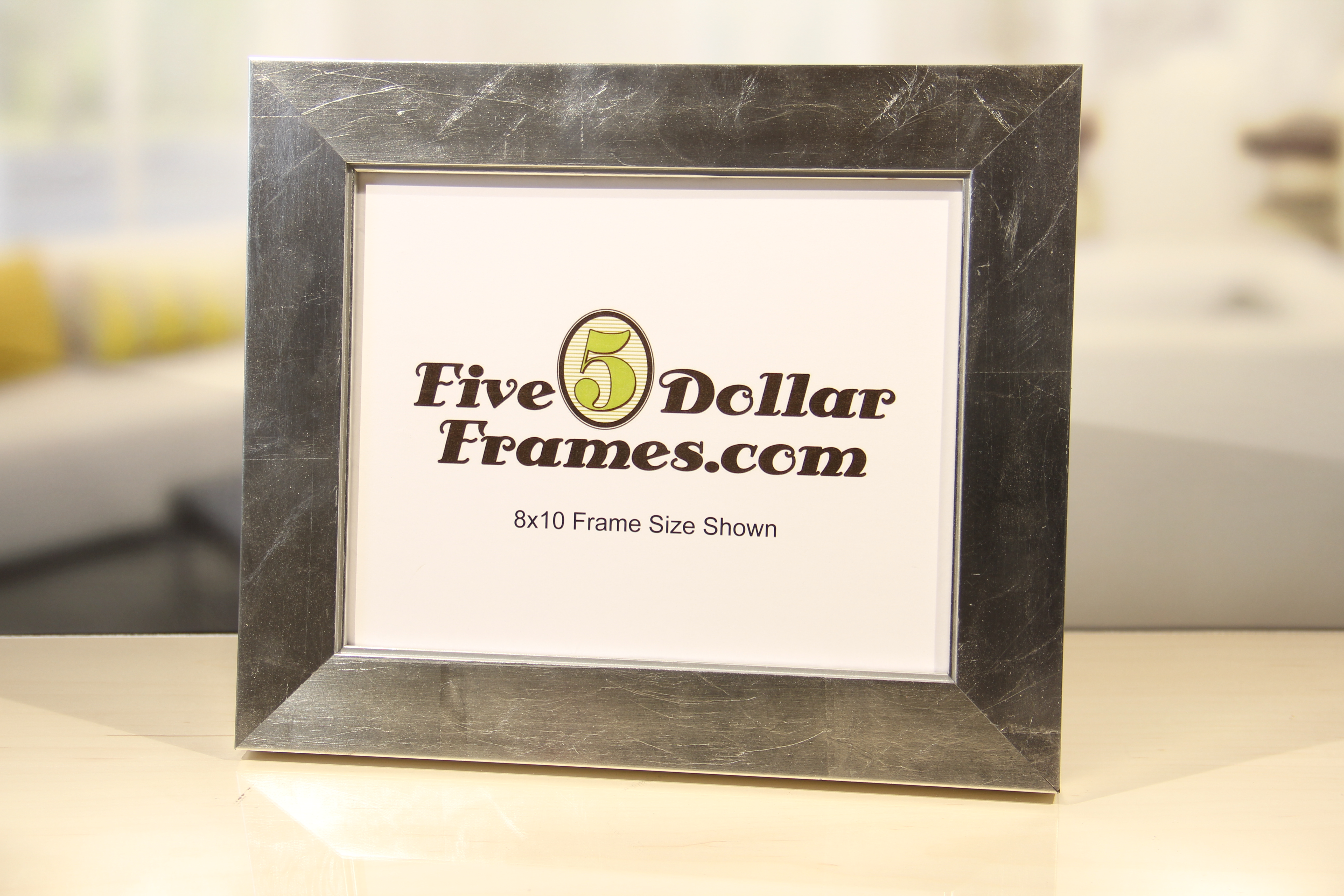 Silver Leafed Flat Picture Frame