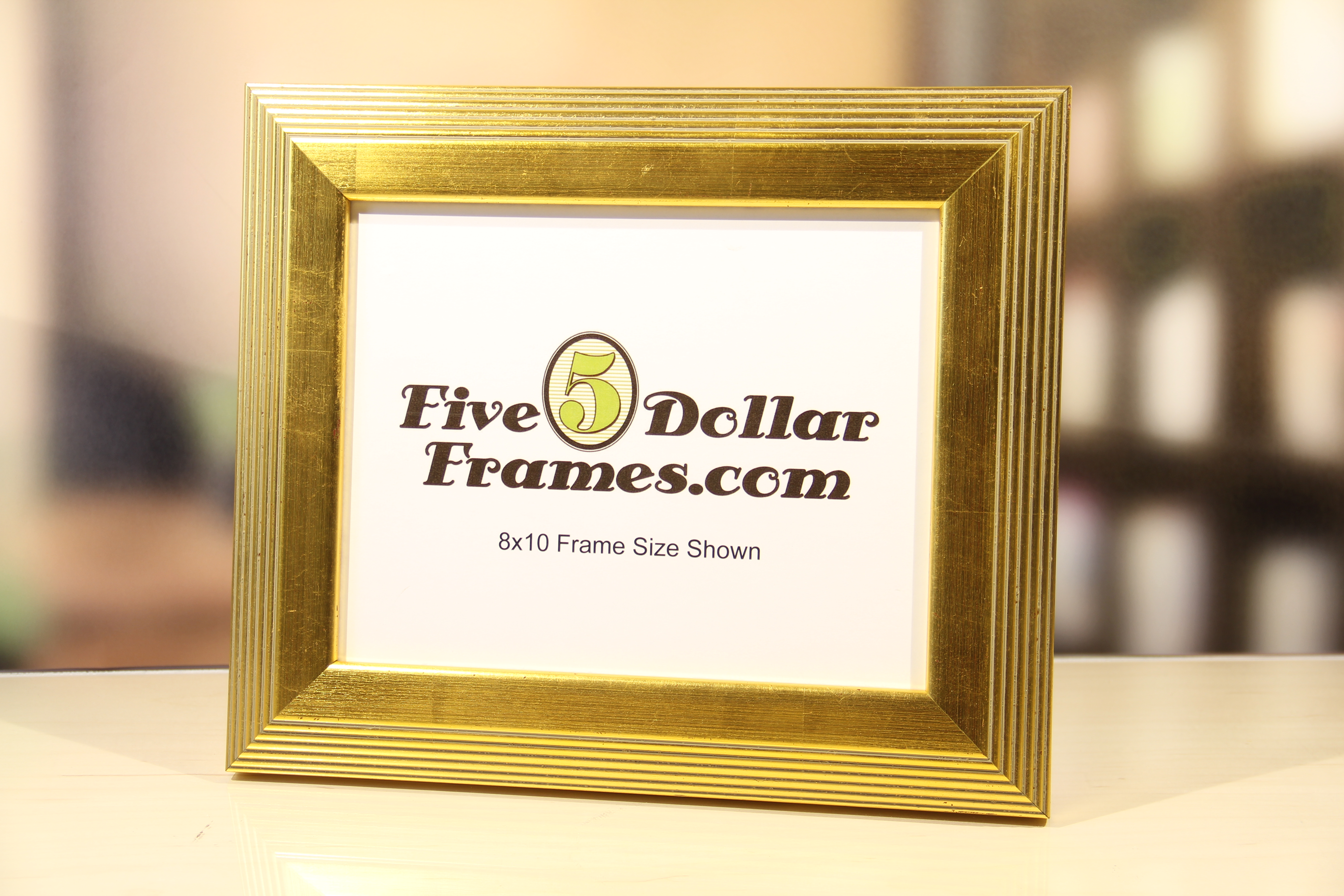 Bright Gold Stepped Picture Frame