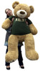 Giant 5 Foot Romantic Teddy Bear Wearing Tshirt That Says SOMEBODY IN THE ARMY LOVES YOU Big Military Teddy Bear