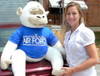 American Made U.S. Air Force Giant Stuffed White Gorilla Monkey Wears Removable T-Shirt SOMEONE IN THE AIR FORCE LOVES YOU