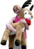American Made Life size 4 feet-tall Big Plush Reindeer Wearing Red Scarf - Jumbo Christmas Winter Deer