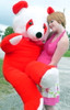 American Made 6 Foot Giant Stuffed Red Panda 72 Inch Soft Bear Made in USA