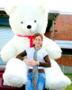 American Made 8 Foot Giant Teddy Bear 96 Inch Soft White Teddybear Made in USA