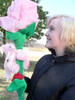 Big Plush Pink Rose 66 Inch with Teddy Bear and You Are Special Heart, Ships in 6 Foot Box