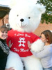 Big Plush 8 Foot Giant Valentine's Day Teddy Bear 96 Inch Soft White, Tshirt Says I Love You THIS Much