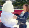 Giant White Teddy Bear 45 Inch Soft Wears Removable White Graduation Gown and Cap