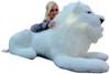 Big stuffed white lion