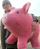 Giant Stuffed Pink Pig 32 inches Soft Made in theUSA America