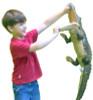 Large Stuffed Alligator 34 inches Long Big Plush Realistic Stuffed Animal High Quality