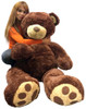 Big Plush 5 Foot Teddy Bear Soft Brown Premium Giant Stuffed Animal 60 Inch Snuggle Buddy