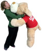 I Love You Giant Stuffed Puppy Dog 5 Foot Soft Wears I LOVE YOU T-Shirt Big Plush Cream Color