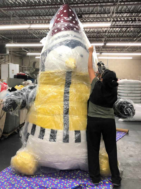 American Manufacturer and Brand Big Plush Makes 11 Feet Tall Stuffed Animals for Businesses