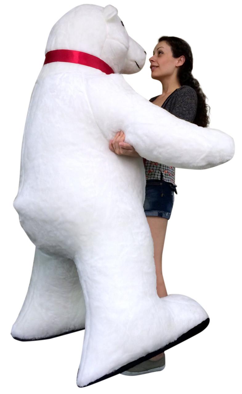 Giant Stuffed Polar Bear 5 Feet Tall Huge Stuffed Animal Made In Usa