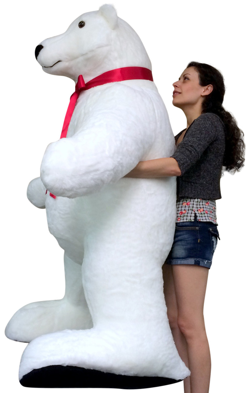 Giant Stuffed Polar Bear 5 Feet Tall Huge Stuffed Animal Made In Usa