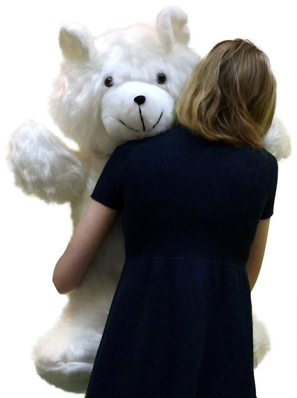 502997bec25 ... American Made Giant White Teddy Bear 36 Inch Soft 3 Foot Teddybear Made  in USA ...
