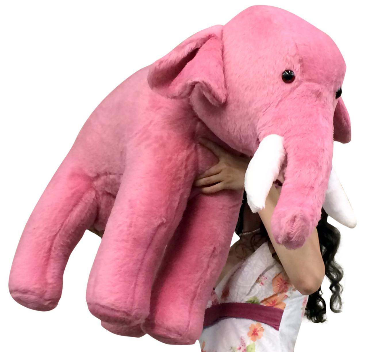 American Made Giant Stuffed Pink Elephant 3 Feet Long Soft Large