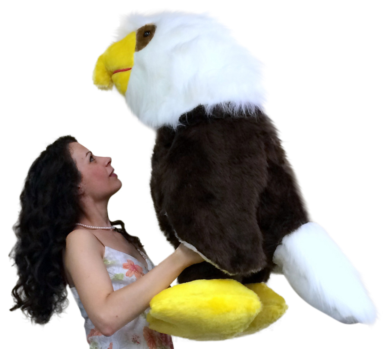American Made 3 Foot Giant Stuffed Eagle 36 Inch Soft Brown Big