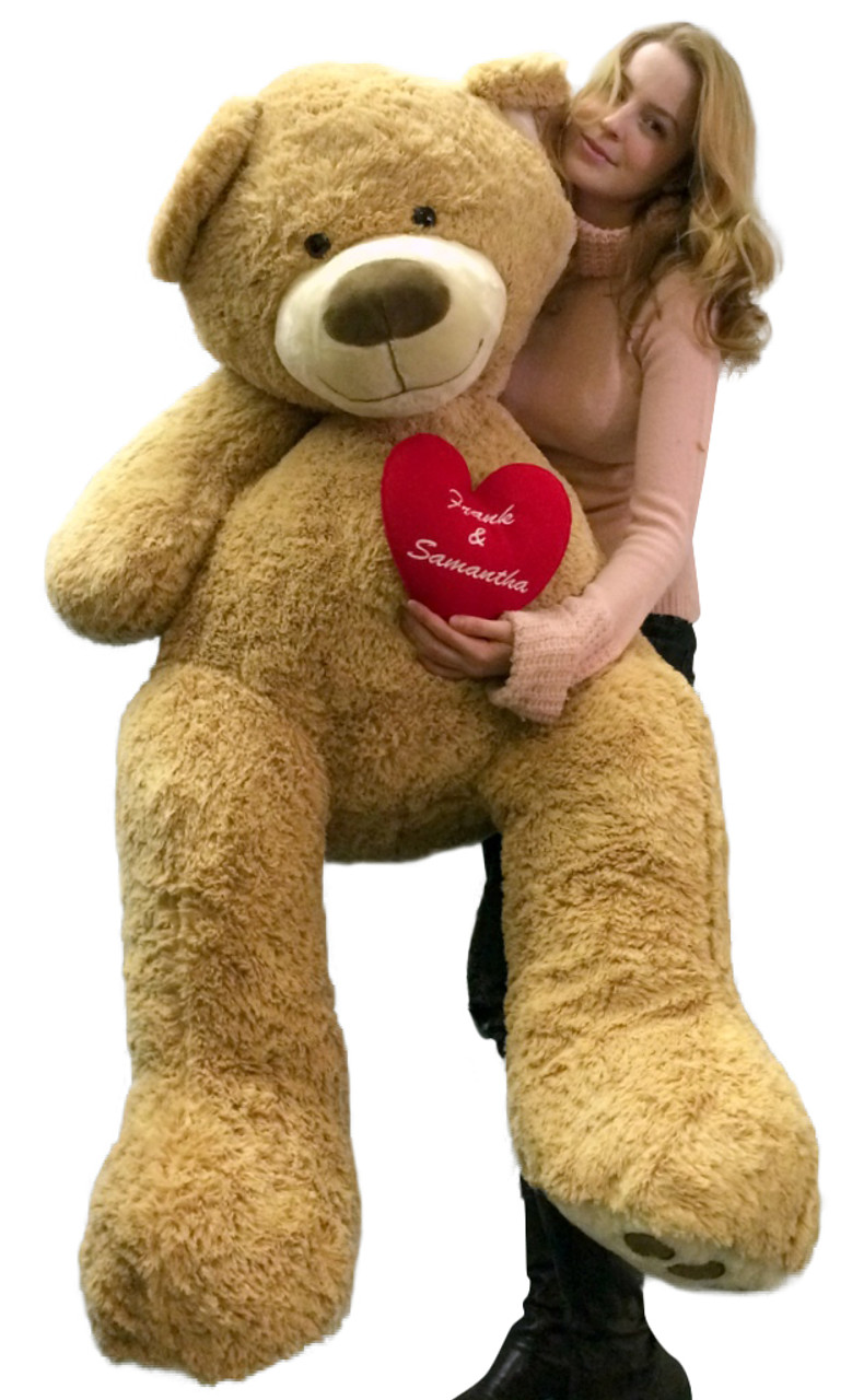 240299aeb0a Your Custom Personalized Name or Message on 5 Foot Giant Teddy Bear ...