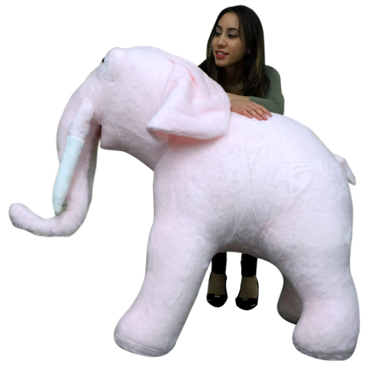 American Made Giant Stuffed Pink Elephant Soft 54 Inches Long 3 Feet
