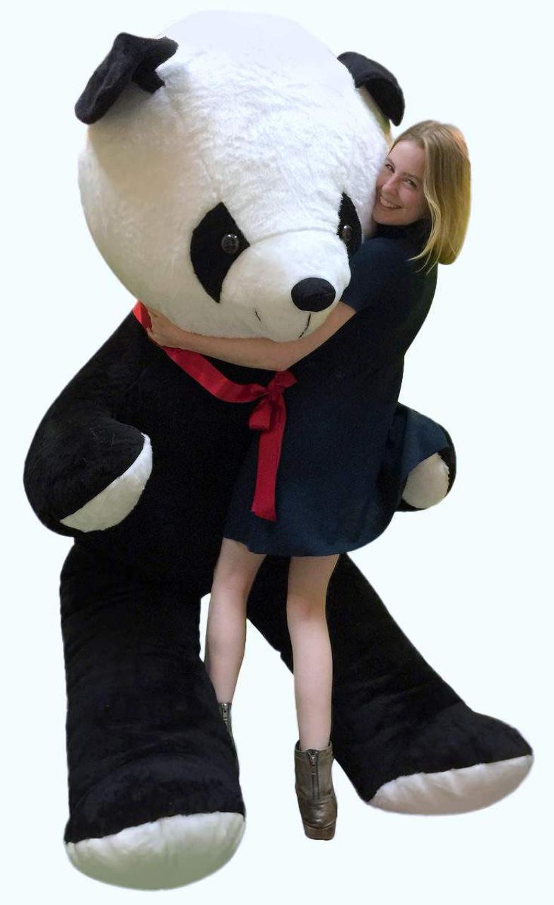Giant 8 Foot Stuffed Panda Bear Soft 96 Inch Teddybear Made In Usa