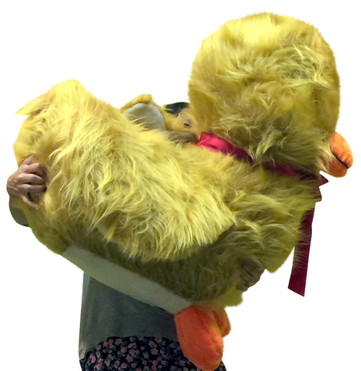 American Made Giant Stuffed Golden Brown Duck Soft 36 Inches Huge
