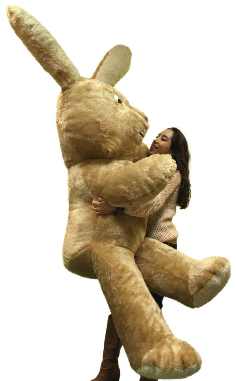 American Made Giant Stuffed Bunny 84 Inches Soft Brown 7 Foot Huge
