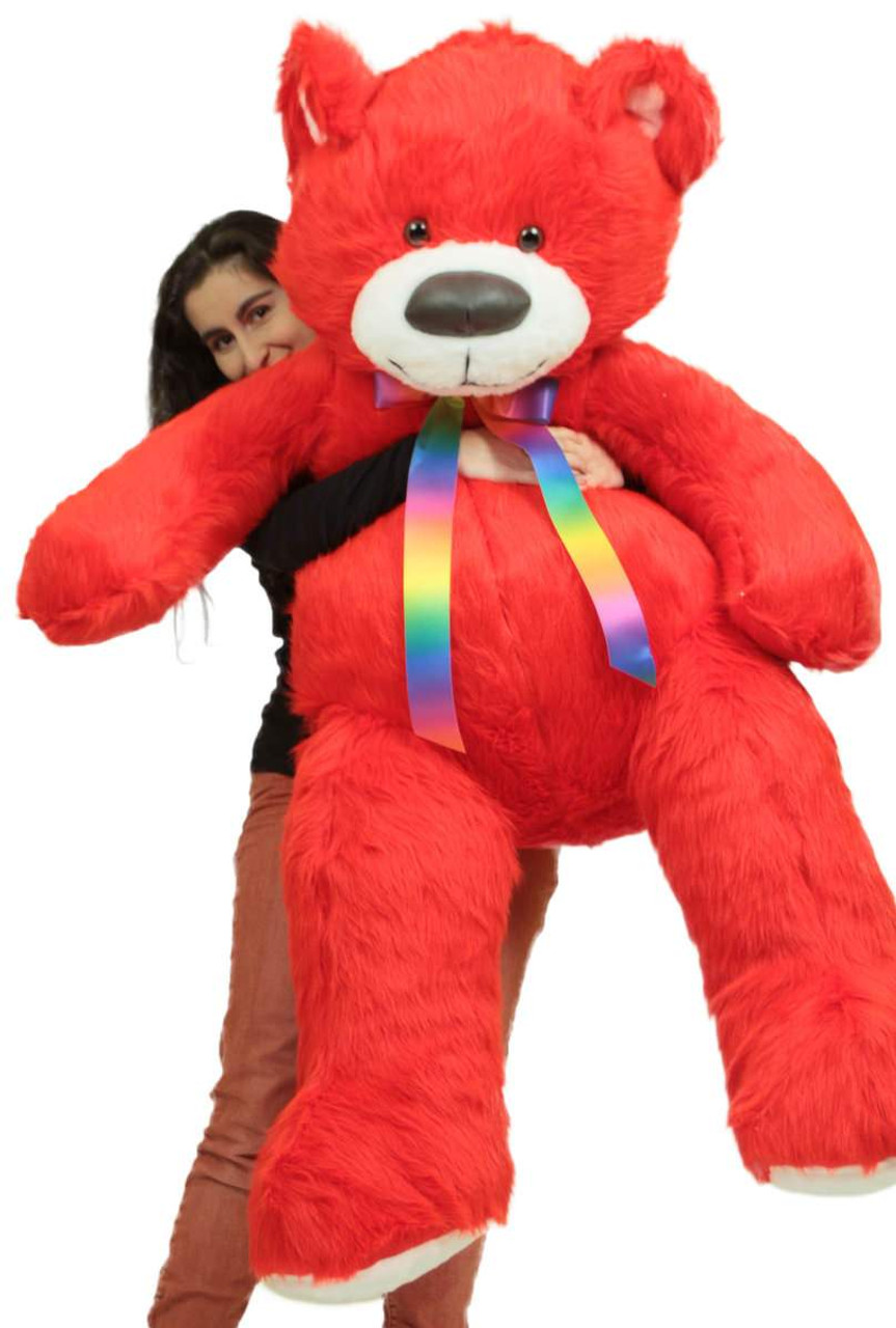 Giant 5 Foot Red Teddy Bear Big Plush Soft Life Size Stuffed Animal
