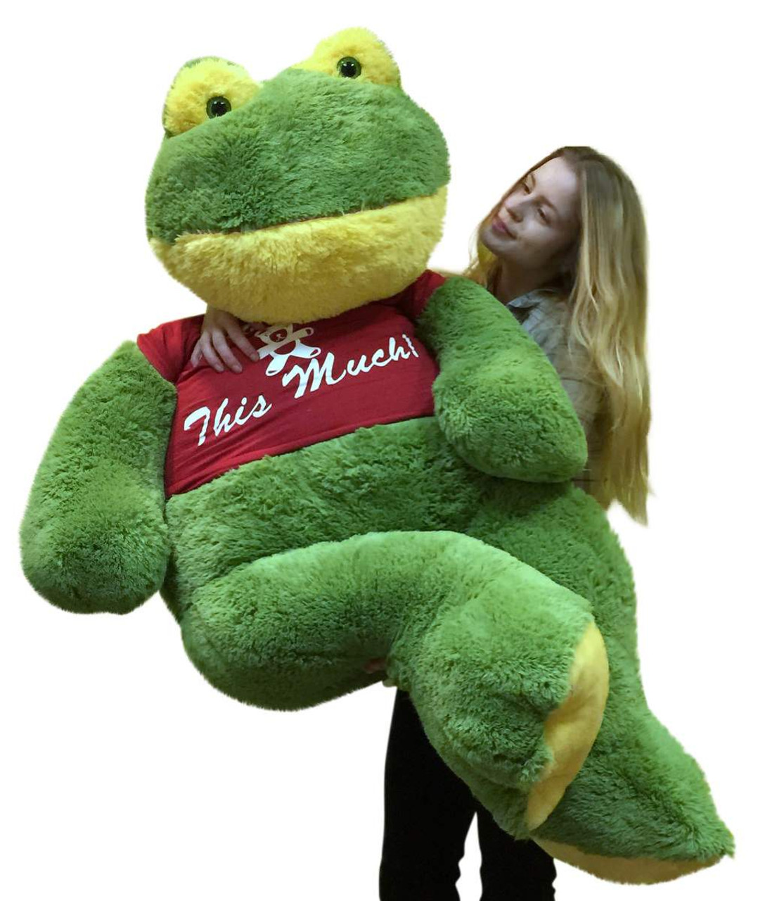 Giant Stuffed Frog 60 Inches Soft 5 Foot Big Plush I Love You This