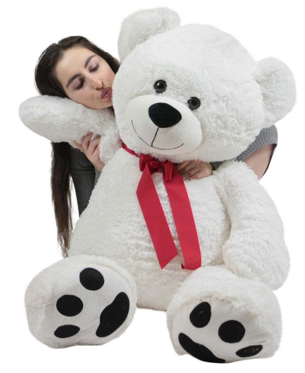 82140feb0 ... Giant Valentine s Day Teddy Bear 52 Inch White Soft