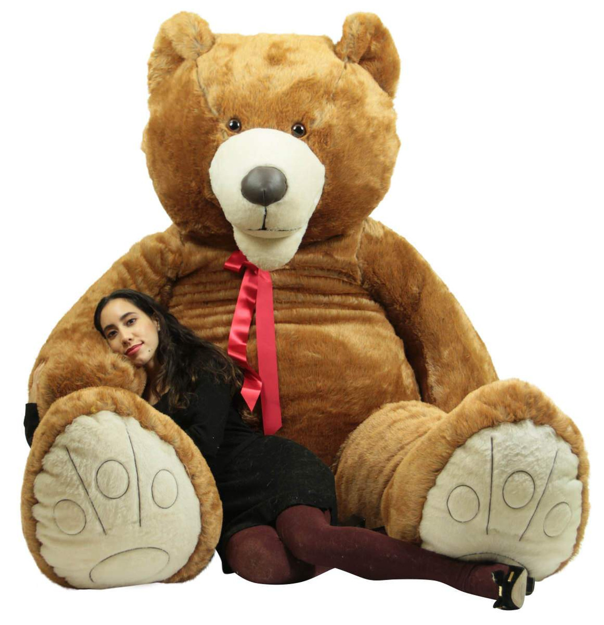 56b7012939f ... American Made 9 Foot Teddy Bear Huge Soft 108 Inch Giant Teddybear  Brown Made in USA ...