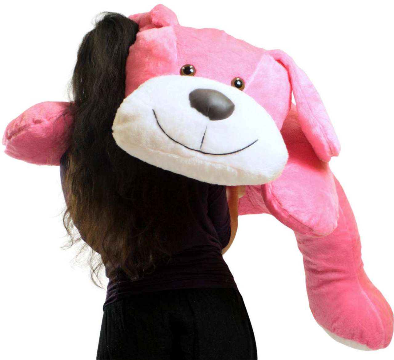 Giant Stuffed Pink Dog 5 Foot Big Plush Puppy Soft 60 Inch Snuggle