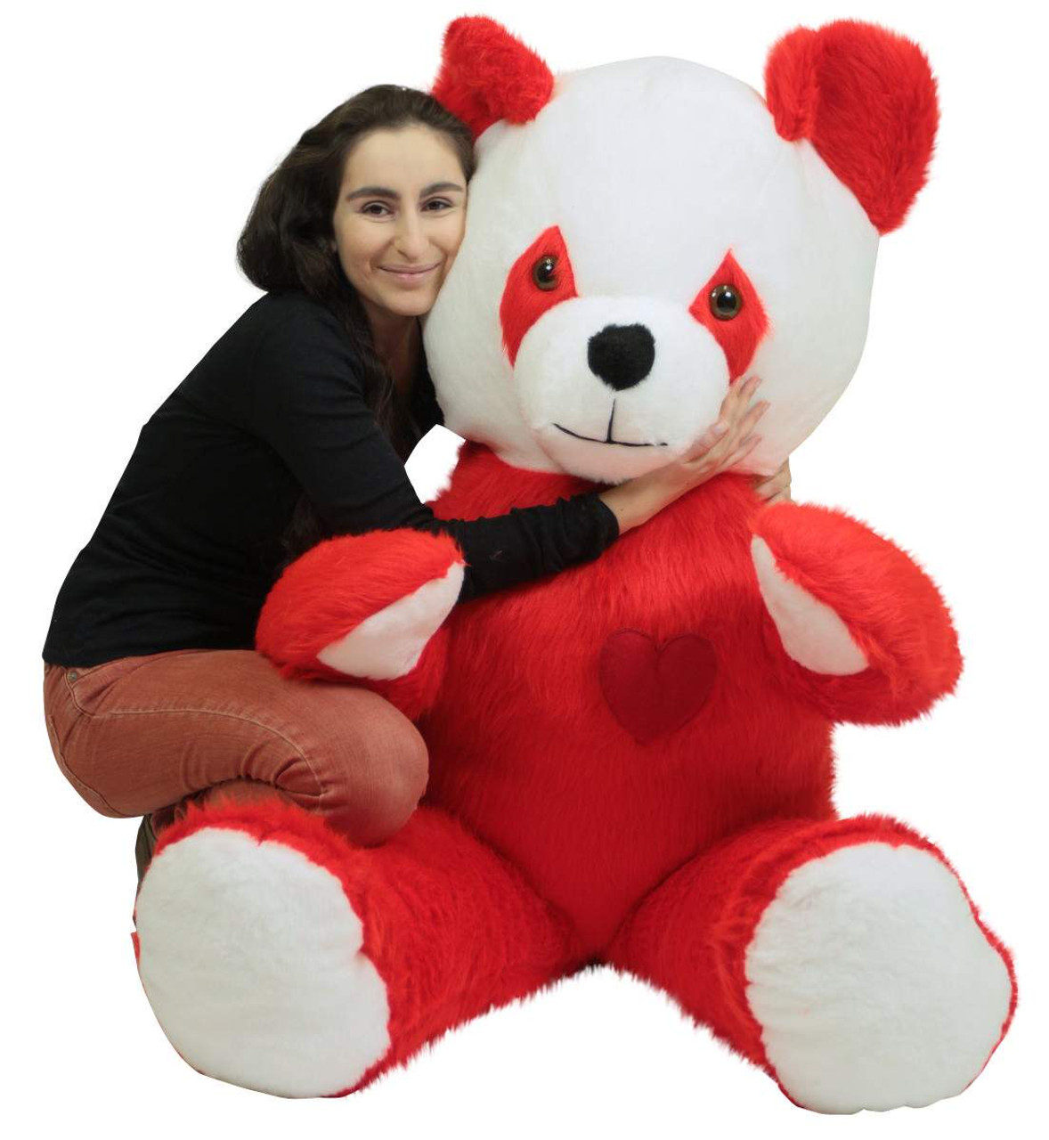 6 Foot Giant Stuffed Red Panda With Heart On Chest To Express Love