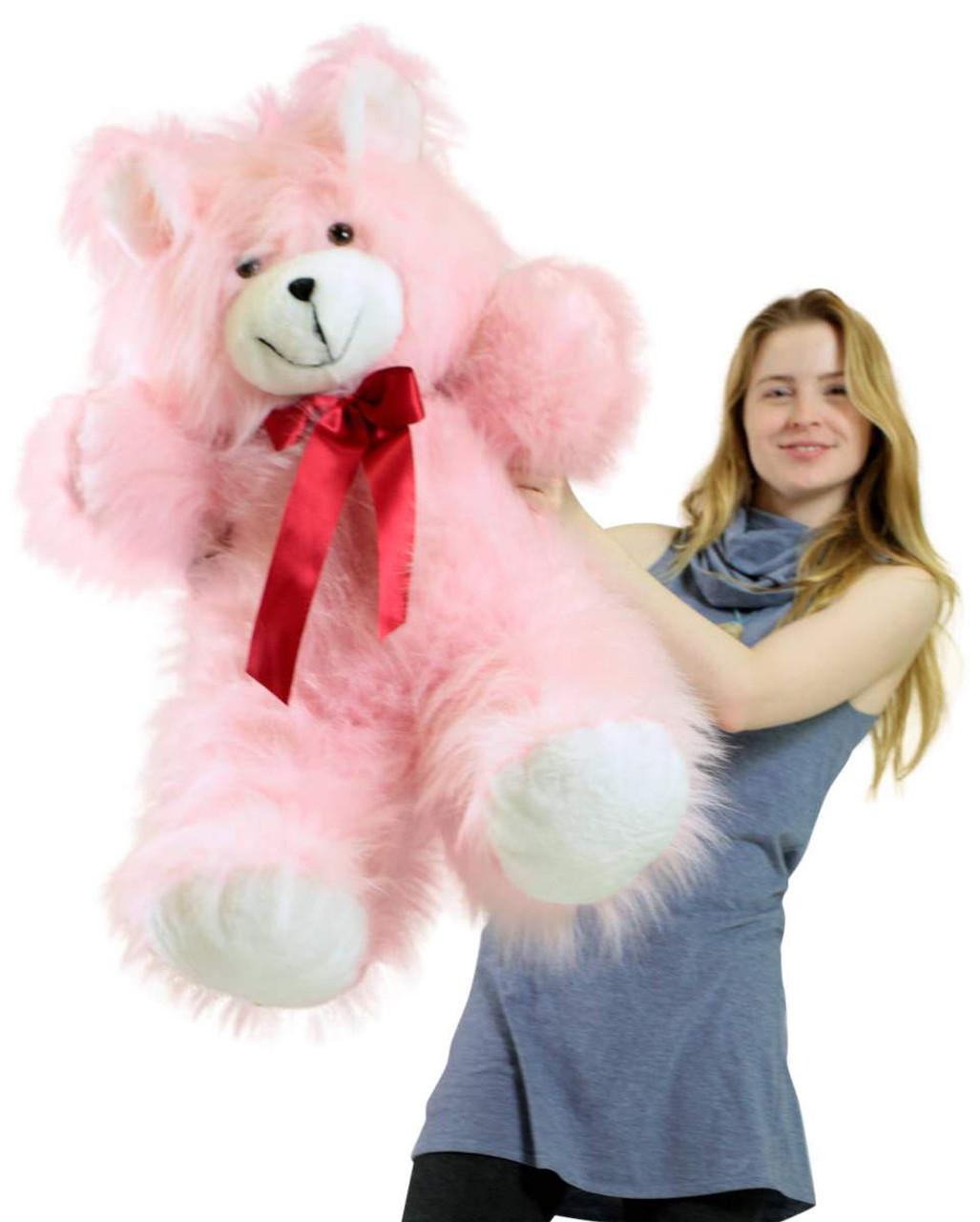 4b8b85c1675 ... American Made Giant Pink Teddy Bear 36 Inch Soft 3 Foot Teddybear ...