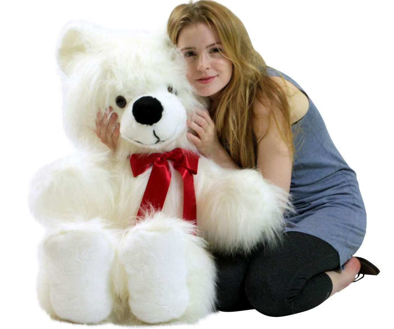 American Made Giant White Teddy Bear 46 Inch Soft Big Plush